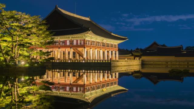 Timelapse-of-Gyeongbokgung-Palace-in-Seoul-City-South-Korea