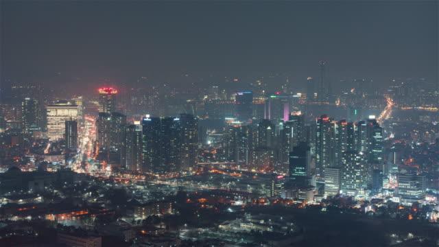 Seoul-Korea-Timelapse---The-south-of-Seoul-at-night