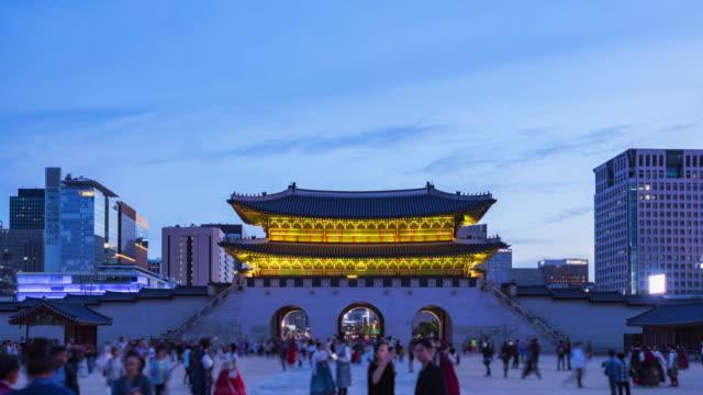 Timelapse-del-Palacio-de-Gyeongbokgung-en-Seúl-Corea-del-sur
