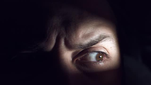4K-Thriller-Horror-Man-Eye-Looking-Angry-and-Scared