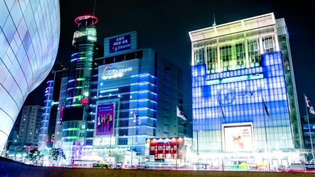 Seoul-City-Night-Shopping-Area-Timelapse