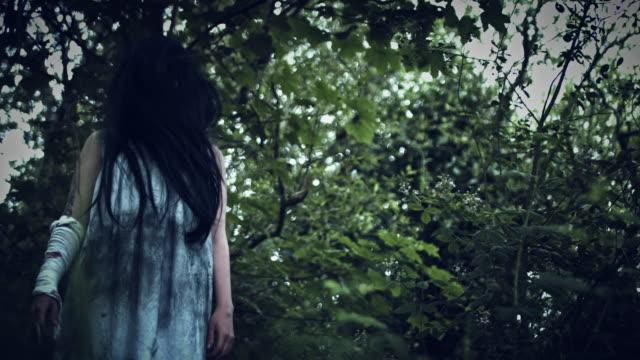 4k-Horror-Woman-in-Dirty-Dress-in-Woods