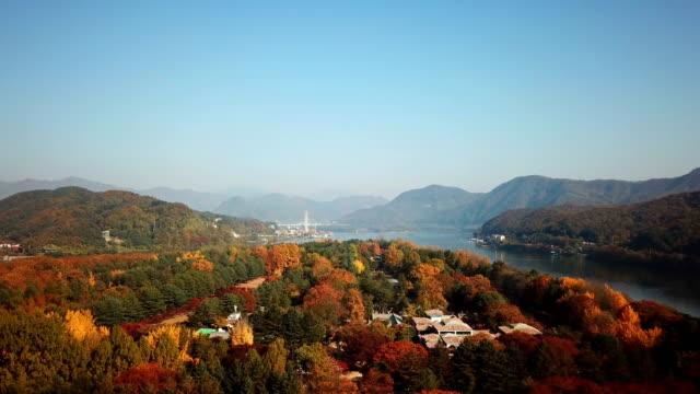 Aerial-view-autumn-of-Nami-island-Seoul-South-Korea