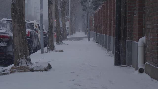 slow-motion-of-Snow-is-falling-Seoul-South-Korea