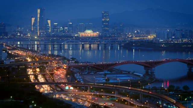 Seoul-cityscape-in-twilight-South-Korea-