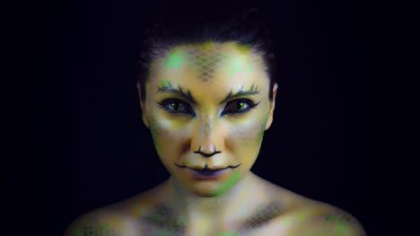 4K-Horror-Serpent-Makeup-Woman-Portrait