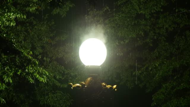 Steam-on-street-lamp-in-rain