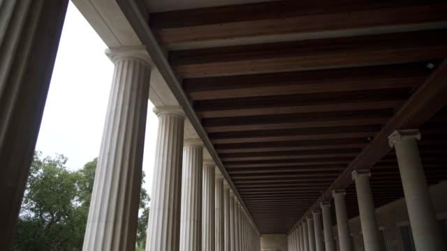 Stoa-de-Attalos-columnas-en-Atenas-Grecia-