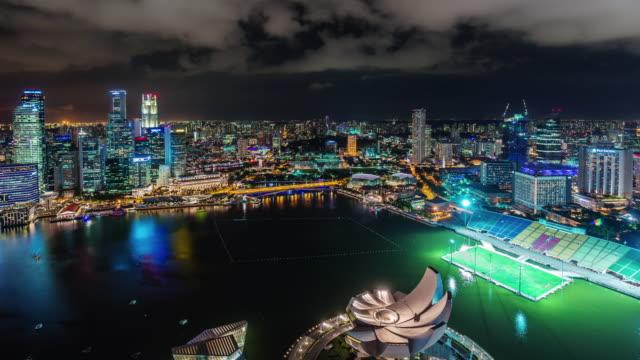 panorama-Bahía-vista-desde-el-hotel-famoso-de-Singapur-4-lapso-de-tiempo-k