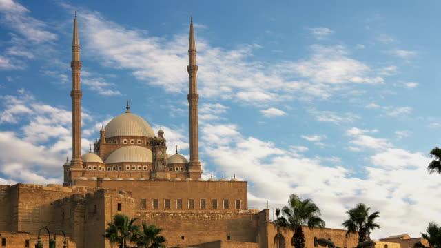 Die-große-Moschee-von-Muhammad-Ali-Pasha-oder-Alabaster-Moschee-Ägypten-Zeitraffer-