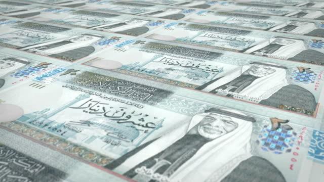Banknoten-von-20-Jordanische-Dinar-von-Jordanien-Rollen-Bargeld-Schleife