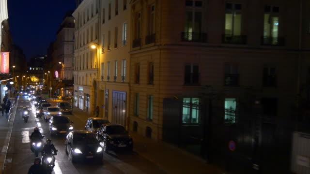 france-night-time-illumination-paris-double-decker-bus-ride-street-panorama-4k