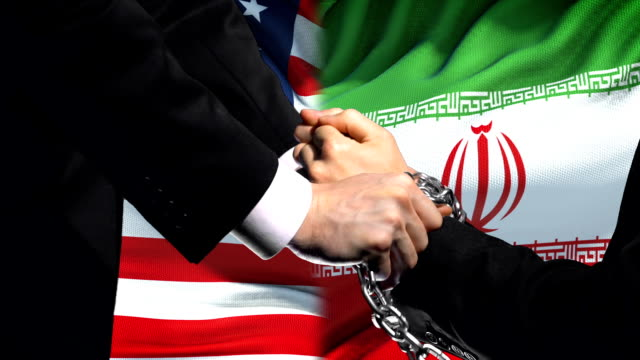 United-States-sanctions-Iran-chained-arms-political-or-economic-conflict