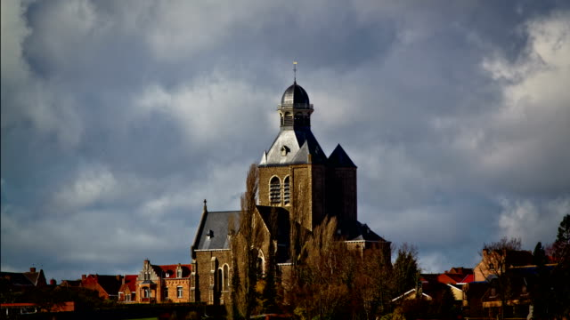 World-war-one-towns-and-villages-:-Messines-Flanders-Belgium-time-lapse