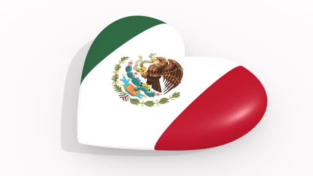 Heart-in-colors-and-symbols-of-Mexico-on-white-background-loop
