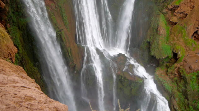Ouzoud-Waterfalls-located-in-the-Grand-Atlas-village-of-Tanaghmeilt-in-the-Azilal-province-in-Morocco-Africa