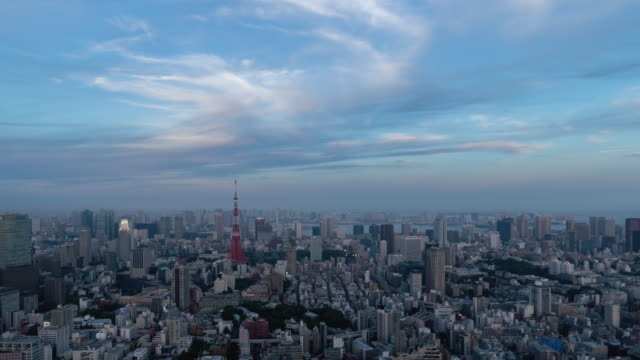 Landscape-of-Tokyo-that-will-be-night-from-evening