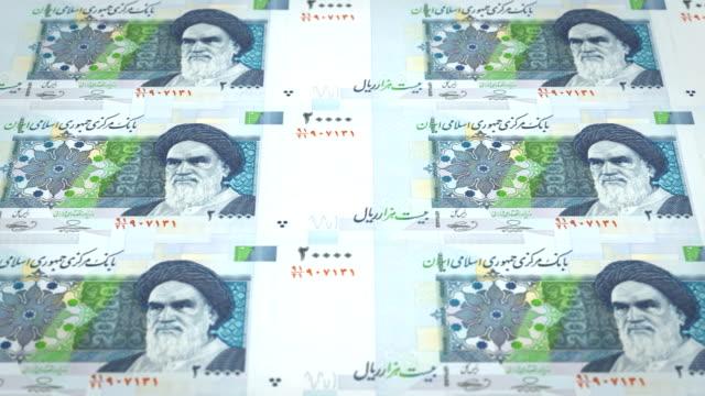 Banknotes-of-twenty-thousand-iranian-riyals-of-Iran-cash-money-loop