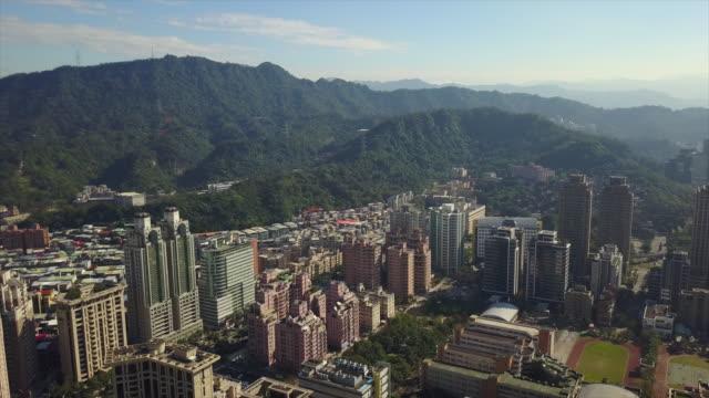 taiwan-sunny-day-taipei-city-mountain-park-aerial-panorama-4k