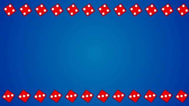 Red-dice-cubes-casino-gambling-blue-border-frame-background