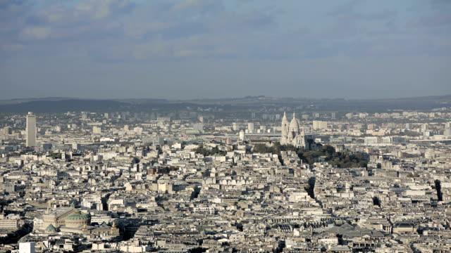 París-Francia-20-de-noviembre-de-2014:-Toma-aérea-de-la-creación-del-Sacre-coeur-