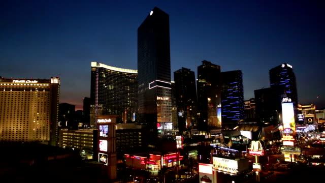 Vista-a-Las-Vegas-Strip-en-primer-plano-de-noche