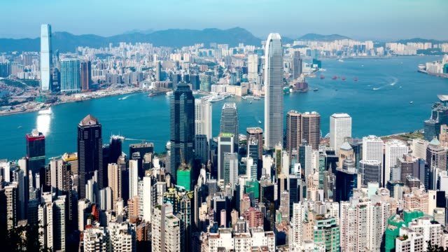 Hong-Kong-famous-view---timelapse
