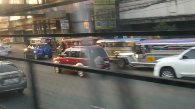 Window-view-from-a-train-in-Manila