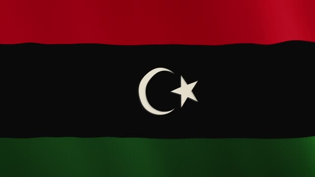 Libya-flag-waving-animation-Full-Screen-Symbol-of-the-country