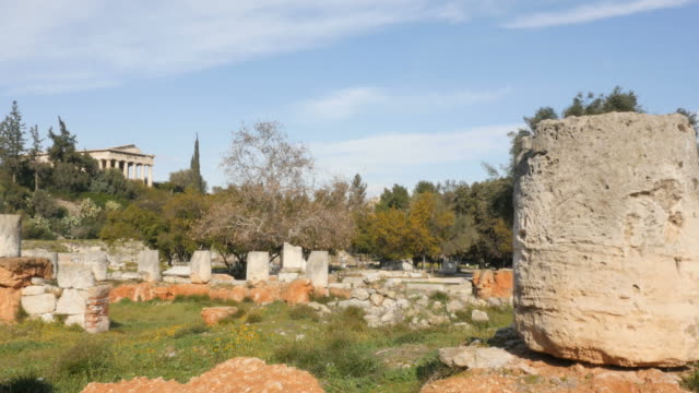 Agora-of-Athens-overlooking-Temple-of-Hephaestus-or-Hephaisteion