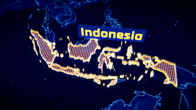 Indonesia-country-border-3D-visualization-modern-map-outline-travel