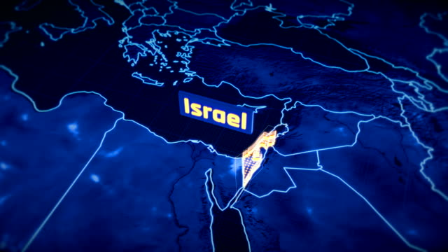 Israel-country-border-3D-visualization-modern-map-outline-travel