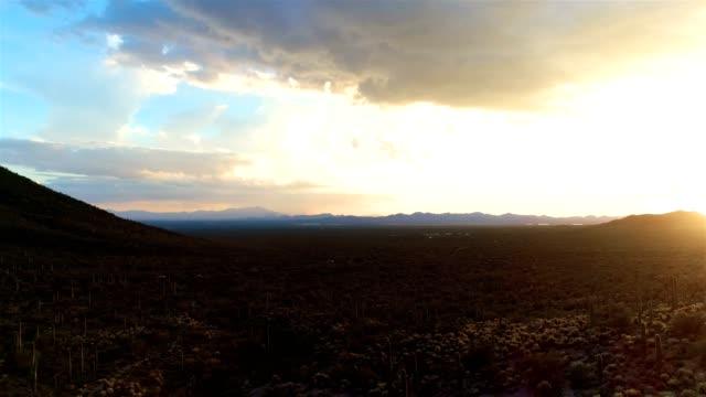 Desert-Plains-Drone-Footage---Sunset-View