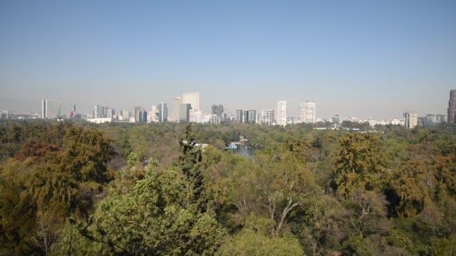 Skyline-der-Stadt-schwenken