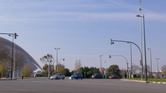 valencia-sol-luz-de-día-de-tráfico-de-la-calle-cerca-de-ópera-4-k-España