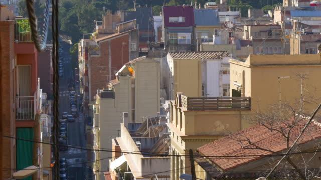 barcelona-día-soleado-edificio-tráfico-de-calle-4-k-España
