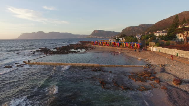 Aerial-view-of-the-famous-St-James-beach-Cape-Town-South-Africa