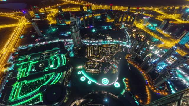 fuente-de-dubai-edificio-mundo-más-alto-de-iluminación-de-noche-ve-4-k-tiempo-lapso-Emiratos-Árabes-Unidos