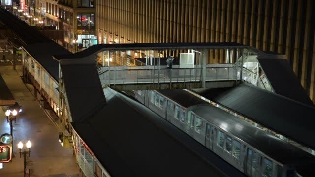 Tren-de-Chicago-Transporte-público-en-la-ciudad-de-Chicago-Illinois-Estados-Unidos-de-América-