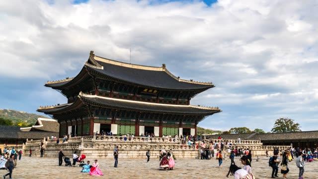 4K-turístico-de-lapso-de-tiempo-en-el-Palacio-de-Gyeongbokgung