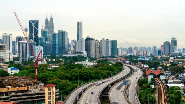 4K-Time-Lapse-:-Aerial-view-of-Kuala-Lumpur-city-skyline