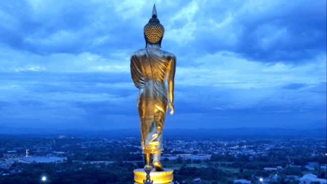 Standing-buddha-statue-at-Wat-Phrathat-Khao-Noi-Nan-Thailand-One-of-the-best-view-excellent-place-