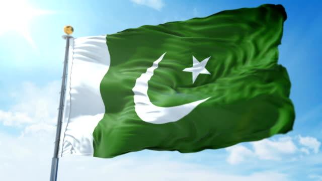 Pakistan-flag-seamless-looping-3D-rendering-video-Beautiful-textile-cloth-fabric-loop-waving