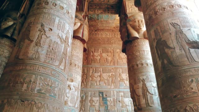 Beautiful-interior-of-the-Temple-of-Dendera-or-the-Temple-of-Hathor-Egypt-Dendera-Ancient-Egyptian-temple-near-the-city-of-Ken