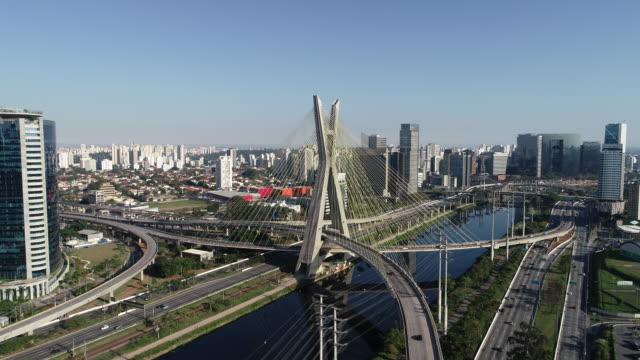 Stayed-bridge-at-Sao-Paulo-Brazil-