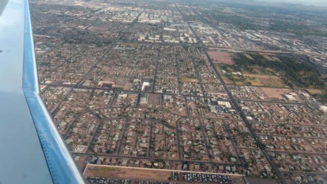 Aerial-airline-approach-Phoenix-Arizona-housing-HD