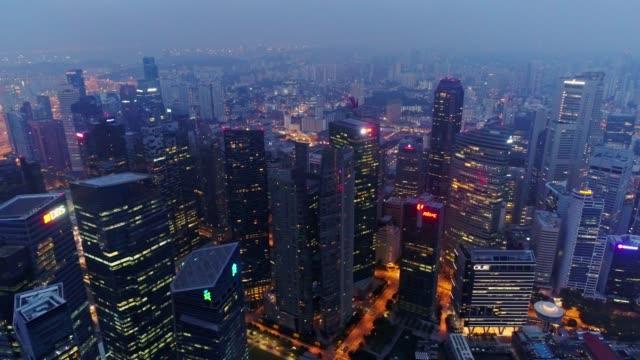 Escena-aérea-de-la-ciudad-de-Singapur-4k-video