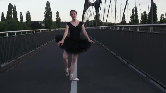 Ballet-Dancer-Walking-Gracefully-and-Dancing-on-Street