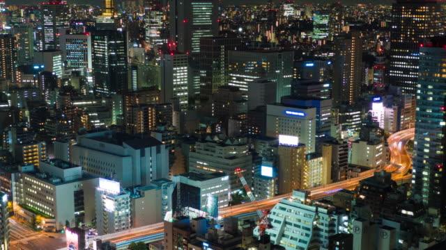 Tokyo-Urban-Skyline-Timelapse-Highway-at-Night-