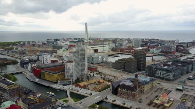Beautiful-aerial-Malmo-city-view-in-Sweden